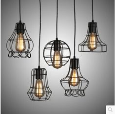 72.00$  Buy here - http://ali450.worldwells.pw/go.php?t=32346529328 - Free shipping  Replica Designer Loft vintage industrial Metal Pendant lights 5 style pendant lamp 72.00$