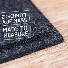 werktat Filzzuschnitt – Filz Meterware auf Maß, 5 mm, anthrazit (anthracite), Tischläufer, Schreibtischunterlagen, Filzunterlagen, Filzteppiche