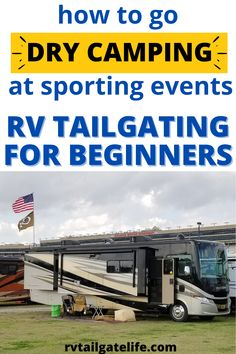 Have you ever gone to a race or a football game and seen all those RVs out there and the people partying up like you've never done before? Why don't you join them? These tips will help you RV tailgate like a pro! Doesn't matter what kind of RV you have - Class A or Class C, travel trailer or fifth wheel, even a van, schoolie, ambulance conversion, whatever. Learn how to RV tailgate with the seasoned pros! Travel Hack, Rv Travel, Travel Info, Travel Advice, Travel Tips, Hacks, Rv Life, Rv Camping, Tailgating