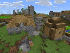 Spawn by two cool villages in this Minecraft PE Seed. Two villages, one blacksmith, a river, jungle and many ground-level cave entrances. Minecraft Pe Seeds, Minecraft Houses, Cave Entrance, Very Boring, Minecraft House Tutorials, Spawn, House Layouts, How To Level Ground, Building