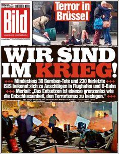 #20160323 #GERMANY #DEUTSCHLAND Wednesday MAR 23 2016 #Bild http://en.kiosko.net/de/2016-03-23/np/bild.html