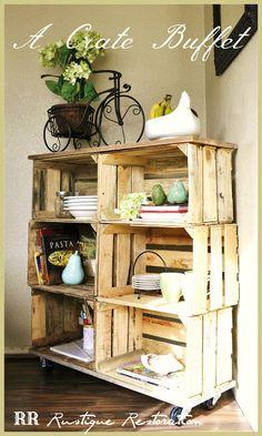 Rustico mueble con cajones