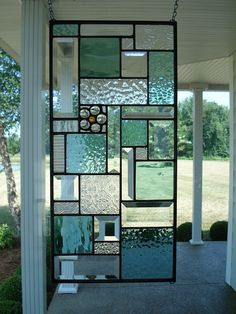 Stained Glass Panel Window Transom Seafoam Green & Clear Bevels Stained Glass Panel Window Transom Seafoam Green by TheGlassShire Stained Glass Crafts, Stained Glass Designs, Stained Glass Panels, Stained Glass Patterns, Leaded Glass, Mosaic Glass, Window Glass, L'art Du Vitrail, Verre Design