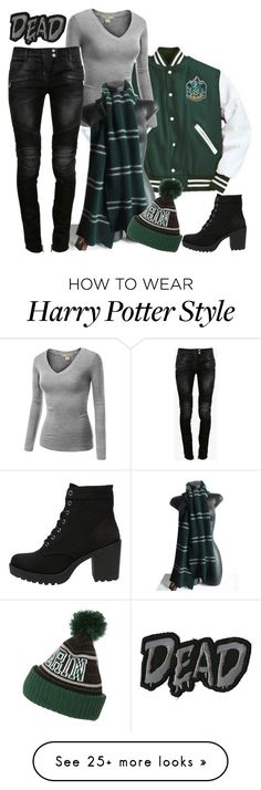 """Slytherin"" by ironraven281 on Polyvore featuring J.TOMSON, Vagabond and Balmain"