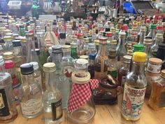 Little bottles all empty. Someone out there wants to collect ...