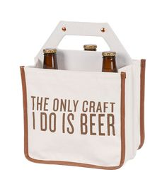 BEER CADDY: ONLY CRAFT IS BEER by C.R. Gibson Beer Caddy, Tiffin Box, Dark Beer, Gift Packaging, Label Design, Just For Laughs, Brewing, Anna, Cocktails
