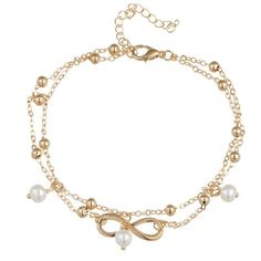 7.87+1.96 Rose Gold Plated Lucky Star Stainless Steel Anklet