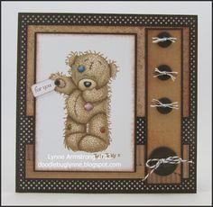 Tatty Teddy card Card Making Templates, Card Making Kits, Card Making Supplies, Making Ideas, Craftwork Cards, Hand Made Greeting Cards, Tatty Teddy, Card Making Inspiration, Card Maker