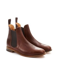 Joules Womens Chelsea Boots, Brown.                     Handcrafted in Northamptonshire, the home of British shoemaking, these Chelsea boots are of unrivalled quality. Perfect to pair with tights, trousers and jeans - they'll be the finishing touch to any outfit. www.joulesusa.com/