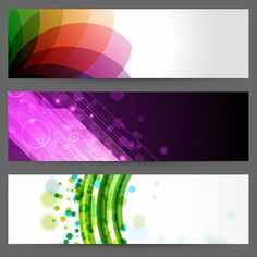 3 Abstract pattern designs for headers or banners – vector EPS. Layout Template, Banner Template, Templates, Creative Banners, Banner Images, Banner Vector, Free Vector Graphics, Vector Design, Web Design