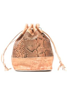 DRAWSTRING LEATHER BAG via collection Nº2. Click on the image to see more!