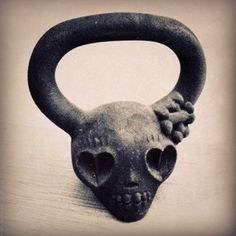 demonbell kettlebell. I use kettle bells. But sheesh. They are not this cute!!!