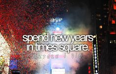 spend new years in time square