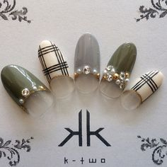 Nail Art Designs In Every Color And Style – Your Beautiful Nails Gel Nail Art, Nail Art Diy, Diy Nails, Cute Nails, Plaid Nail Art, Plaid Nails, Beautiful Nail Art, Gorgeous Nails, Asian Nails