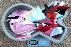 STAINED GLASS SCRAPS FOR  MOSAICS AND OTHER PROJECTS 3.12 P0UNDS #SPECTRUM