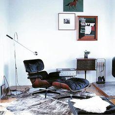 Eames Chair Goals #inspire #inspiration #eames #eameschair #eamesloungechair #midcentury #design…