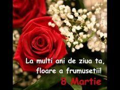 LA MULTI ANI DE 8 MARTIE! - YouTube 8 Martie, 8th Of March, Youtube, People, Fashion, Frases, Moda, La Mode, Fasion