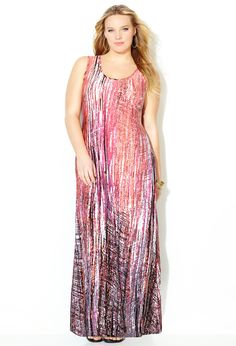 b579a1061ea Blurred Line Maxi Dress-Plus Size Dress-Avenue Plus Size Womens Clothing