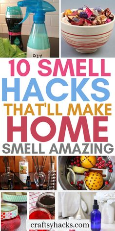 These smell hacks will help with your home scents. Use aromatherapy and other home hacks to improve the smell at home. hacks 10 Smell Hacks That'll Make Home Smell Amazing Household Cleaning Tips, Deep Cleaning Tips, Cleaning Recipes, House Cleaning Tips, Cleaning Hacks, Spring Cleaning Schedules, Cleaning Products, House Smell Good, House Smells