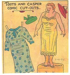 Toots and Casper 2-14-37 Mama from Ebay * 1500 free paper dolls Arielle Gabriel's The International Paper Doll Society #QuanYin5 Twitter QuanYin5 Linked In *