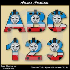 thomas the train clip art numbers