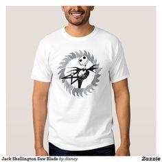 Hoja de sierra de Jack Skellington Remeras #camiseta #tshirt