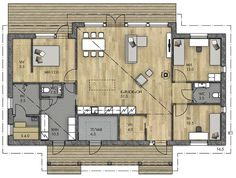 Bungalow, House Floor Plans, Interior Architecture, My Dream, Beach House, Diy Home Decor, Sweet Home, Exterior, Flooring