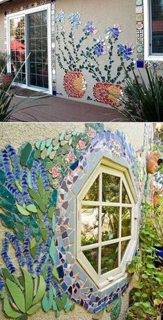Simple handmade mosaic decorations for your garden You have an idea – … - DIY Garten einfach Mosaic Garden Art, Mosaic Tile Art, Mosaic Vase, Garden Wall Art, Mosaic Artwork, Mosaic Crafts, Mosaic Projects, Mosaic Ideas, Easy Mosaic
