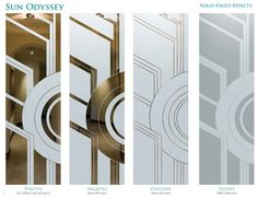 Sun Odyssey – Solid Frost Effects Etched Glass doors