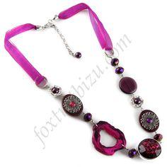 Dlouhý fialový náhrdelník 34a512233