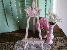 Vintage Easel Picture Holder Wedding Table Decor Home Decor Shabby Chic Romantic. $19.00, via Etsy.