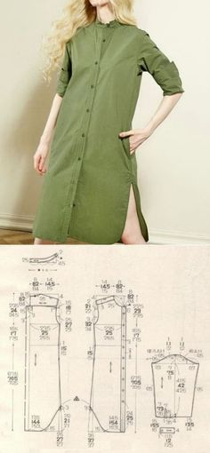 New sewing clothes tops costura ideas Sewing Dress, Dress Sewing Patterns, Diy Dress, Sewing Patterns Free, Sewing Clothes, Clothing Patterns, Diy Clothes, Shirt Dress, Fashion Sewing