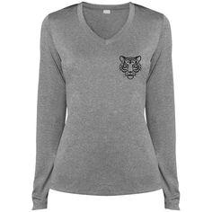 Ladies' Aize Ego LS Dri-Fit V-Neck T-Shirt