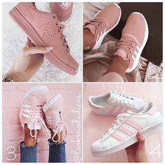 wholesale dealer 0f3e8 be627 Pink shoes 1,2, 3 or 4   Leave your comment. Double tap