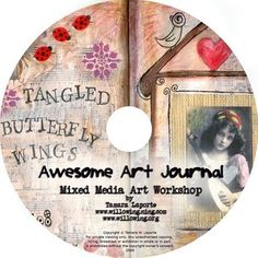 Awesome Art Journal  Mixed Media Art Journal Workshop by willowing, £44.00