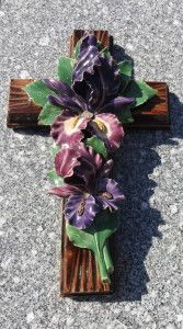 Ceramic Flowers France Cross A unique tradition I have only seen in France. No fresh flowers, but ceramic flowers are used to commemorate the deceased beloved ones.