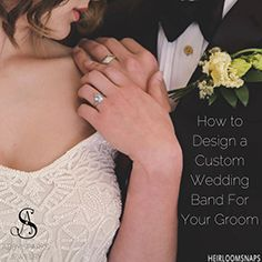 Design the perfect custom wedding band for your man! Abby Sparks Jewelry in Denver, Colorado specializes in custom, unique, and handmade jewelry and a complete concierge experience. Photo by @heirloomsnaps.