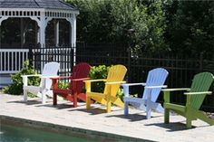 Colorful Malibu Outdoor Living chairs
