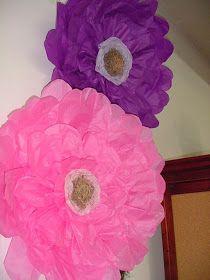 Gwynn wasson designs tips hints giant tissue paper flower designs by laura vintage finds diy large tissue paper flower mightylinksfo