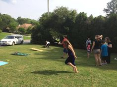 Outdoor games at the graduation party