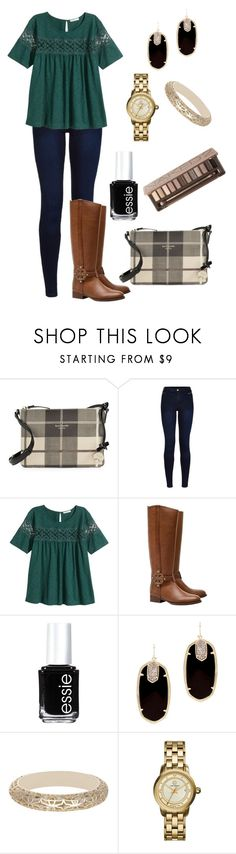 """{ Read D! }"" by vineyard-vines-love ❤ liked on Polyvore featuring Kate Spade, Urban Bliss, H&M, Tory Burch, Essie, Kendra Scott and Urban Decay"