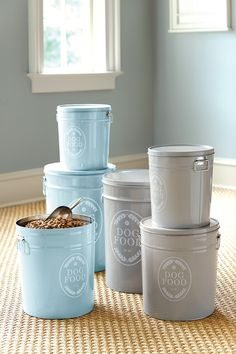 dog food containers with a fun theme