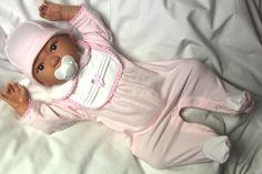 Baby Kind Strampler Mütze Neugeborene set 2 Teile 56 62 Neu England Mode