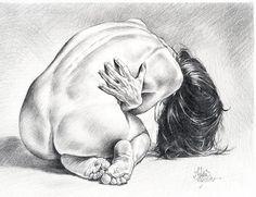 Abdon Jose Romero Diaz (b. kneeling nude female posterior back drawing. Gesture Drawing, Anatomy Drawing, Life Drawing, Drawing Sketches, Pencil Drawings, Art Drawings, Figure Drawings, Figure Sketching, Figure Drawing Reference