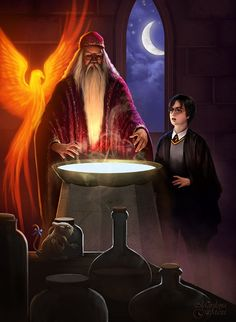 Harry and Dumbledore by maril1