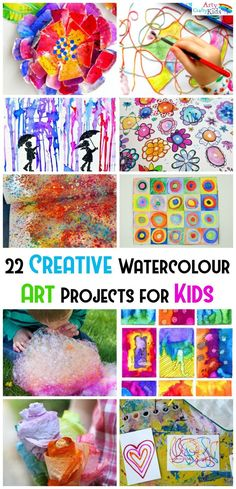 Arty Crafty Kids | Art | Kids Art Projects | 22 Creative Watercolor Art Projects for Kids | A collection of the most creative, unique and fun ways for kids to create amazing works of art with watercolors