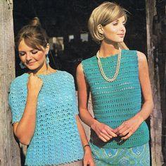 2 #Summer #Tops 1 #Crochet 1 Knitting PDF Pattern (T133). 3.20, via Etsy.