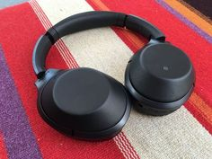 Sony MDR-1000X headphones in black