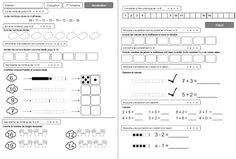 Evaluations maths et français pour le CP.