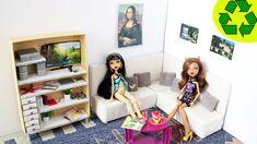 Cómo hacer un sofá seccional para tus muñecas - Manualidades para muñecas
